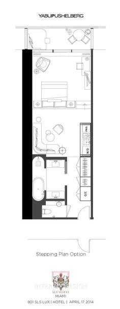 SLS LUX BRICKELL HOTEL Miami  I'd swap lounge area and bedroom around...