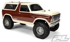"""TECH NOTES This is the Pro-Line 1981 Ford Bronco Clear Body. FEATURES: Designed to fit 1/10 scale crawlers with a 12.3"""" wheelbase Molded from genuine GE lexan INCLUDES: 1981 Ford Bronco Clear Body Dec"""