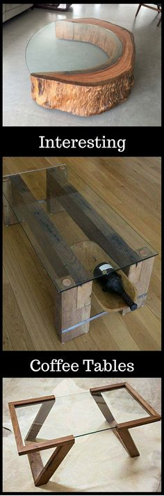 Interesting and Unique Coffee Tables Get Inspired http://vid.staged.com/IvRs                                                                                                                                                                                 More