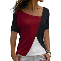 Casual Tops For Women, Short Tops, Mode Outfits, Corsage, Plus Size Tops, Casual Shirts, Tee Shirts, Colorful Shirts, Tunic Tops