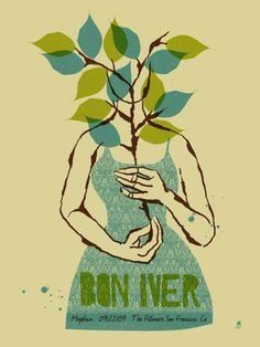 Bon Ives concert poster art