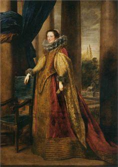 VAN DYCK Sir Antoon van Dyck - Flemish (Antwerpen 1599-1641 Londen) ~  a Noble Genoese Lady, c. 1621 - 1627