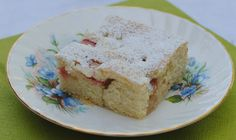 Rhubarb Quick Slice: A wonderful combination of sweet and sour. Also good with strawberries!