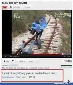 Train is real - YouTube - Unfriendable