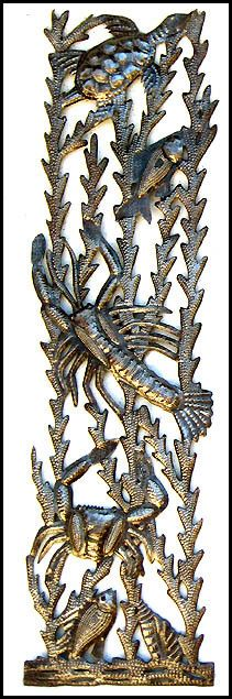 Angel Wall Hanging - Handcrafted Metal Wall Art of Haiti - Metal Art ...