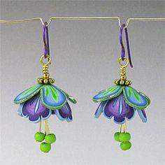 Hyacinth Fairy Wing Earrings by Kim Creates