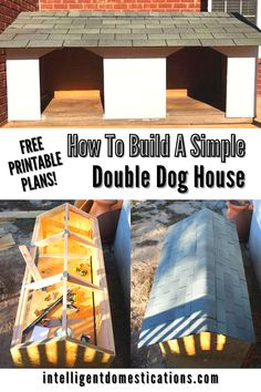 The double door dog house we built for our two big dogs includes instructions and sketches of the plan we created. Pictures of the process included as well as a supply list we used. #doghouse #furbabies Dollar Store Crafts, Dollar Stores, Double Dog House, Diy Games, Double Doors, Big Dogs, Homemaking, Diy Tutorial, Crafts To Make