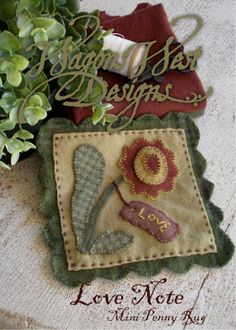 Includes tutorial on how to mark an embroidery pattern on your wool