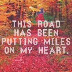 This road has been putting miles on my heart. - Zac Brown Band, Sweet Annie