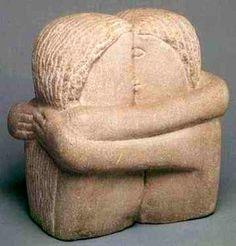 Constantin Brancusi / Le Baiser sculpture