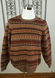 Brooks Brothers Fair Isle sweater.