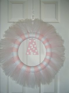 TuTu cute new baby wreath. It's tulle