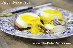 Eggs Benedict (including nut-free Paleo English muffins!! and dairy-free Hollandaise Sauce!!!) - The Paleo Mom