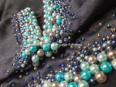 baju kurung cream pearl manik bead - Google Search