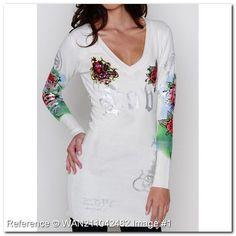 wholesale-discount-ed-hardy-t-shirt-long-sleeve-tee-v-neck-sp182bm-women-ed-hardy-women-t-shirts-tops-white-color-fashion.jpg (600×600)