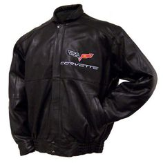 C6 Corvette Hand Inlay Lambskin Bomber Jacket