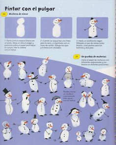 Snowman fingerprints: purple paper and white ink pad.