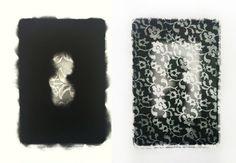 "Fibres - Diptych  Black and White Silver Gelatin Print 11X14"" 2009  Momento Mori"
