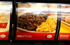 The McPinto, Costa Rica. Gallopinto, the Costa Rican national dish that consists of seasoned rice and black beans. At McDonald's it comes with scrambled eggs, sour cream and plaintains. - See more at: http://caspost.com/25-awesome-mcdonalds-dishes-you-cant-buy/3/#sthash.T77lNJZn.dpuf