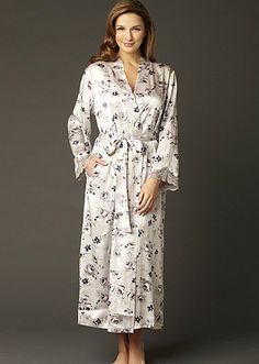 999a0236e5 NEW Indulgence  Silk Floral Print  Robe http   www.juliannarae.