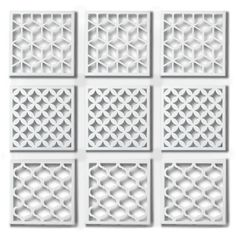 Umbra Geometra Metal Wall Décor Tiles (Set of 9) (815 UYU) ❤ liked on Polyvore featuring home, home decor, wall art, decor, art, umbra wall art, white metal wall art, inspirational home decor, metal home decor and motivational wall art
