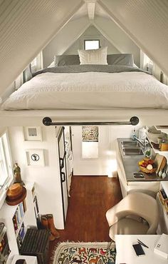 If there is no space for the king sized bed you wanted, why not make room? Great idea!