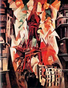 La Torre Eiffel roja  Delaunay - (Robert Delaunay)