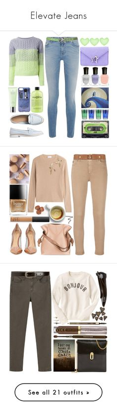 """Elevate Jeans"" by klmoody57 ❤ liked on Polyvore featuring Deborah Lippmann, Corto Moltedo, Guild Prime, Givenchy, philosophy, Gap, Iphoria, Molton Brown, Loewe and Butter London"