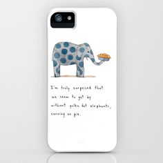 polka dot elephants serving us pie iPhone Case by Marc Johns - even better....