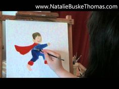 """""""Dramatic Mom"""" comic boy is now also an oil painting illustration - short 1 min clip - Take a cheery break! #art #painting #illustration"""