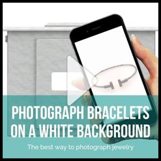 It's easy photographing any bracelets on a white background!