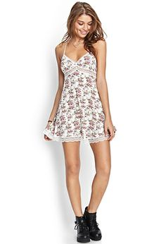 Lace & Floral Cami Dress | FOREVER21 - 2000103576