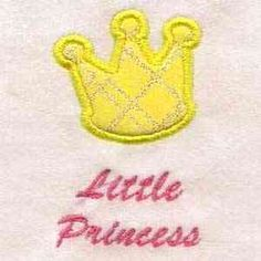 Free Embroidery Design: Little Princess