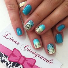 Instagram by lianecds #nails #nailart #naildesigns