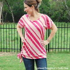 Tips for making your own T-Shirt pattern.