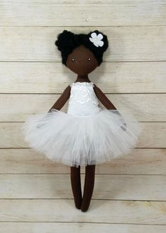 Best 12 This doll is made of cotton . The skirt is made of tulle Height is or inches. Doll for children from 5 years old. The doll can have buttons and decorative elements . If you buy for a young child, the child should be under surveillanc Plush Dolls, Doll Toys, Rag Dolls, Ballerina Doll, African American Dolls, Sewing Dolls, Doll Tutorial, Doll Patterns, Henna Patterns