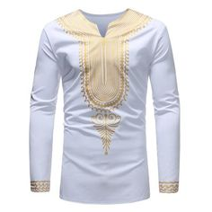 Ericdress African Fashion Dashiki Print Mens Casual T Shirts African Wear Styles For Men, African Shirts For Men, African Dresses Men, African Attire For Men, African Clothing For Men, African Outfits, African Dashiki Shirt, African Print Shirt, Dashiki For Men