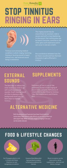Tinnitus -The ringing in the ears can be stopped with home remedies and lifestyle changes in most cases, but some cases of tinnitus require medical interventions.