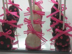 girl cake pops (baby shower idea)