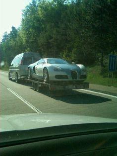 Definitely NOT how I would transport my 2.4 million dollar car.