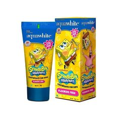 Aquawhite presents SpongeBob SQUAREPANTS Toothpaste for Kids from age 2-14 years. aquawhite is the exclusive license holder of SpongeBob SQUAREPANTS. A Chill Gum (Bubble Gum) flavored toothpaste especially formulated for the taste palate of children.