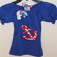 This anchor shirt is adorable and  so is the matching bow that comes with it.