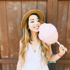 Me!! I don't know is it just me that cotton candy is so cool!!!!!! It just like disolves like think about it!!!!!(were gonna pretend the lollipop is cotton candy!