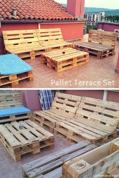 Pallet Terrace #Sofa Set - How to Decorate with #Pallets?