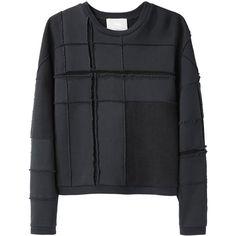 3.1 Phillip Lim Tromp L'Oeil Plaid Sweatshirt ($350) ❤ liked on Polyvore