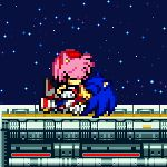 More Sonamy GIF testing. This should of happened in Sonic 06 (a Sonic the Hedgehog video-game). Sprites: Sonic and Amy made by: X zone background made by: Shadowbot (from The Sprite...