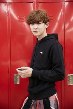 Chanyeol - 150514 'EXO Next Door' promotional image Credit: Naver. ('우리 옆집에 EXO가 산다')