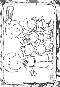 Coloring Pages For Boys, Colouring Pages, Coloring Books, Family Theme, Family Day, Drawing For Kids, Art For Kids, Father's Day Activities, Art Corner