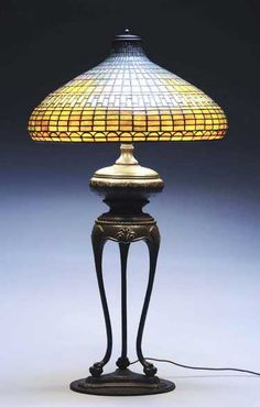 """Tiffany Studios 20"""" Chinese Lamp. - 6 Chinese Lamps, Chinese Table, Louis Comfort Tiffany, Antique Lamps, Auction, Table Lamp, Shades, House Design, Lights"""