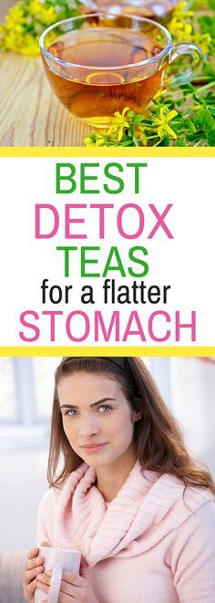 Liver Cleanse Detox 7 Best Detox Teas for a Flatter Stomach - I LOVE this! Detox Tee, Detox Tea Diet, Detox Diet Drinks, Fat Burning Detox Drinks, Detox Diets, Cleanse Diet, Detox Juices, Stomach Cleanse, Juice Cleanse